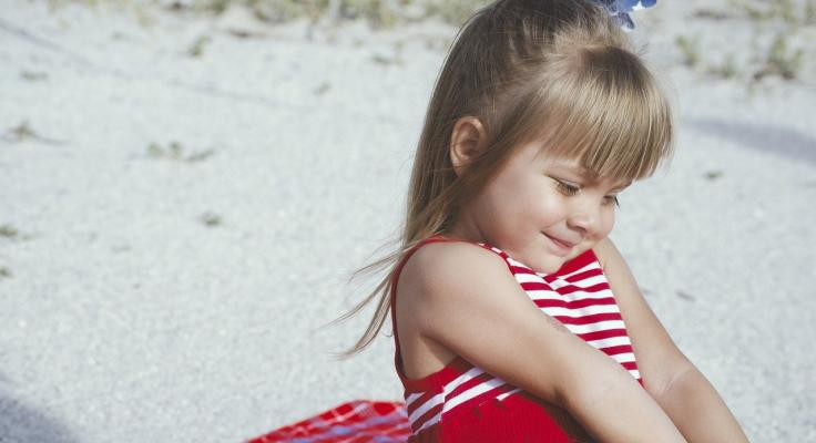 Meisje strand